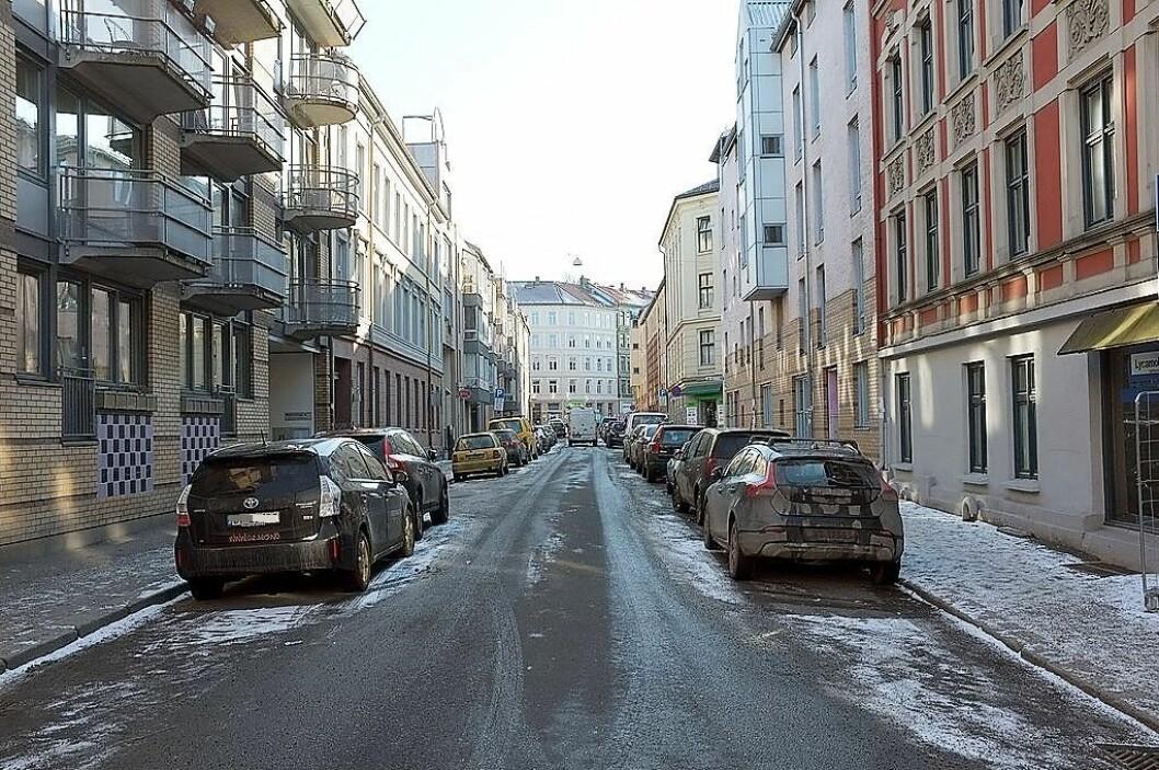 I denne gata skjedde knivstikkingen. Foto: Kjetil Ree / Wikimedia Commons