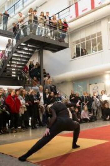 Danseoppvisning ved Norges dansehøyskole. Foto: Camilla Storvollen