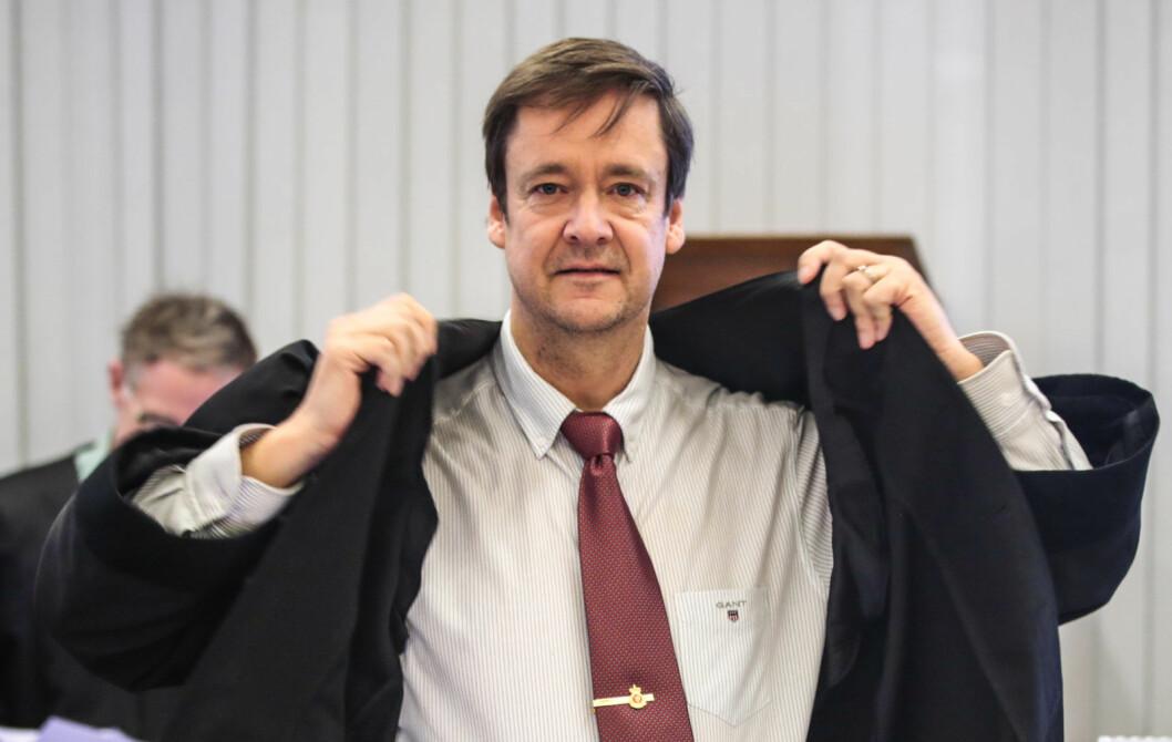 John Christian Elden er oppnevnt som forsvarer for den litauiske mannen i 30-årene. Latvieren er foreløpig siktet for drapet på en ikke navngitt person natt til lørdag. Foto: Lise Åserud / NTB Scanpix