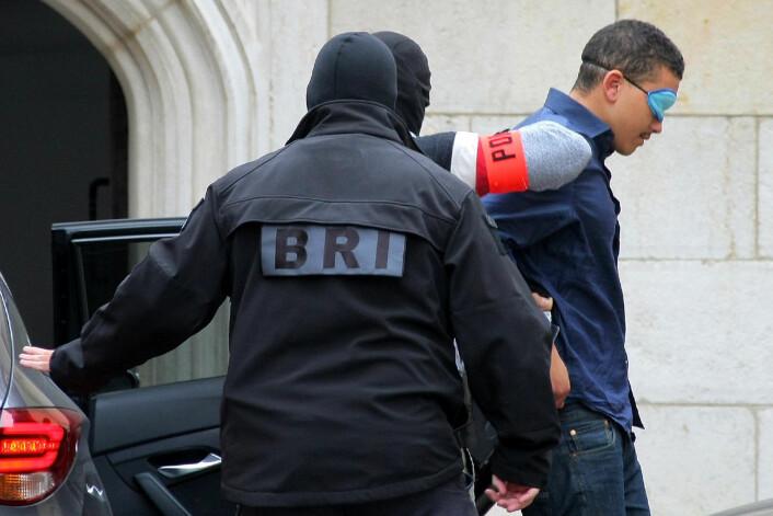 Makaveli Lindén blir snart utlevert til Norge, siktet for drapet på en 24 år gammel mann på Majorstua i høst. Foto: Dominique Trossat/AP / NTB scanpix