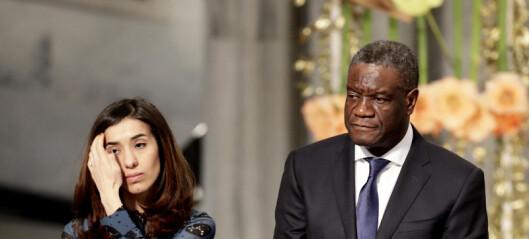 Fredsgudstjeneste for Denis Mukwege og Nadia Murad i Nobels ånd