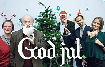 Har Venstre det morsomste julekortet i år? Se de andre Oslo-politikernes julekort her