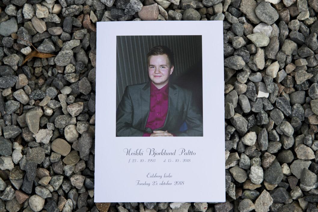 Heikki Bjørklund Paltto ble drept i leiligheten på Majorstuen i oktober. Han ble begravet fra Eidsberg kirke samme måned. Foto: Vidar Ruud / NTB scanpix