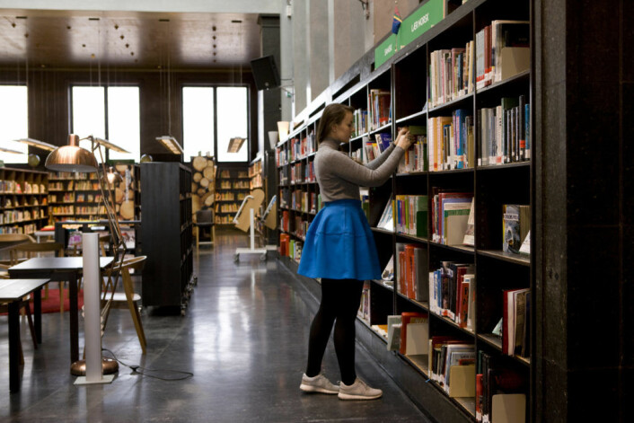 Deichmanske hovedbibliotek på St. Hanshaugen i 2016. Foto: Thomas Brun / NTB scanpix