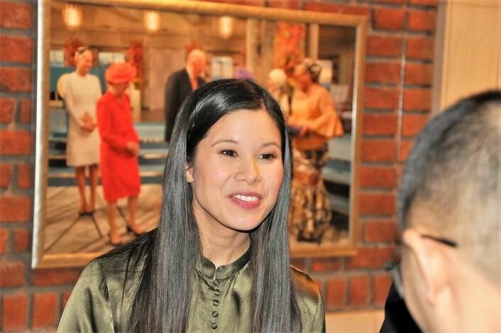 Miljøbyråd Lan Marie Nguyen Berg strålte på festdagen for Oslo. Foto: Arnsten Linstad