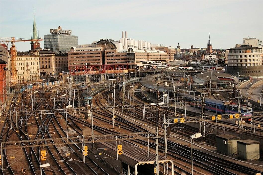 Med hurtigtog fra Oslo vil passasjerene ankomme her ved Stockholms sentralstasjon i hjertet av den svenske hovedstaden etter under tre timers reise. Foto: Jim / Flickr