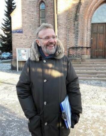 Leder for Kampen Vel, Tommy Grotterød, mener vellet ikke har noe å skjule i striden om Thorbjørn Egners plass. Foto: Anders Høilund