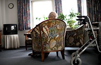 — Sykehjem skal være hjem, ikke institusjoner