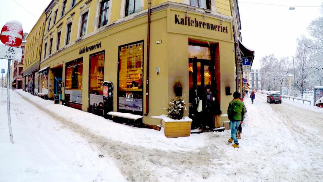 Vinter ved kaffebrenneriet. Foto: Terje Børjesson