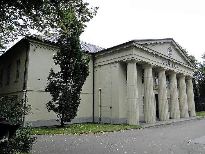 Børsbygningen sto ferdig i 1828 og var Christianias første monumentale bygning. Foto. Erik Conrad Ødemark