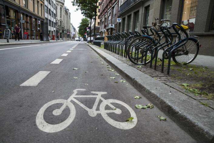 Oslo er i ferd med å få flere sykkelveier og bedre sykkelparkering. Men saken om Maxbo Sinsen og sykkelparkering er behandlet av plan- og bygningsetaten. Den er ikke avgjort av byrådet. Foto: Berit Roald / NTB scanpix