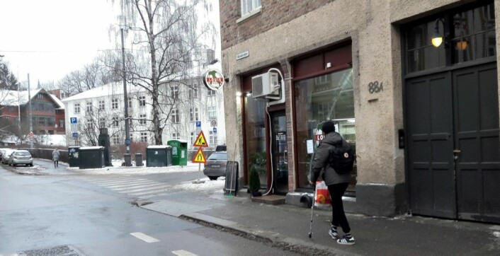 I krysset mellom Stensgata og Ullevålsveien fant Abolfathi et egnet lokale for pizzasjappa si. Foto: Anders Høilund