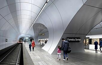 T-bane fra Majorstua til Fornebu nær to år forsinket og flere milliarder kroner dyrere enn planlagt