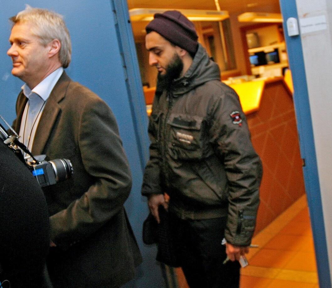 Mohyeldeen Mohammad ble i november i Oslo tingrett dømt til to år og et halvt års i fengsel for trusler mot Venstres stortingsrepresentant Abid Raja. Foto: Trond Reidar Teigen / Scanpix .