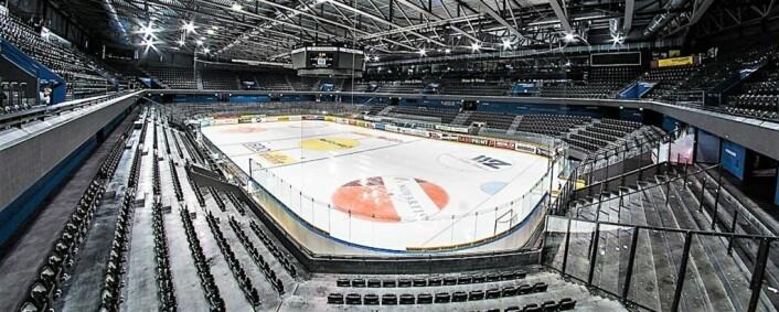 Bossard Arena står klar til å ta i mot Vålerenga, dersom klubben skulle kvalifisere seg til Champions Hockey League og møte EV Zug neste sesong. Foto: FCBasel1969 / Wikimedia Commons