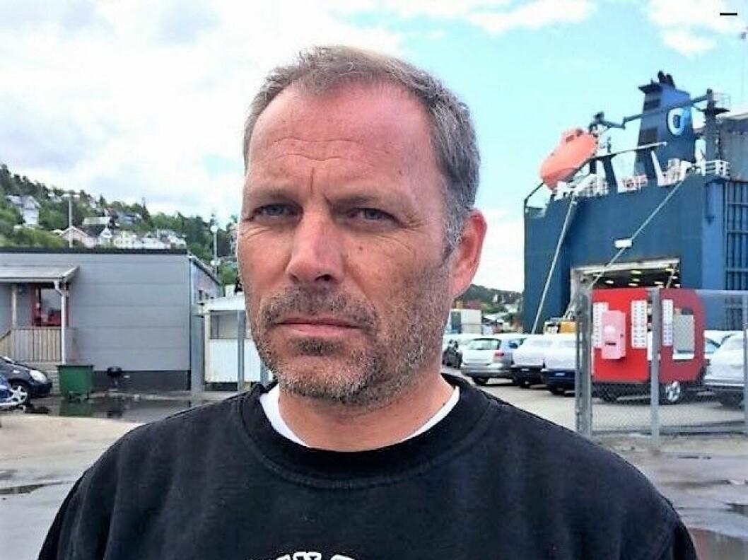 Leder for bryggearbeiderne i Oslo, Roar Langaard, synes det er jævlig å måtte legge ned driften ved lasse- og lossekontoret. Foto: Privat
