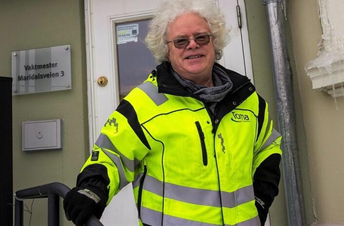 Vaktmester Michael Degenaars er glad for at variasjonen av bedrifter og leietagere skal beholdes. Foto: Morten Lauveng Jørgensen