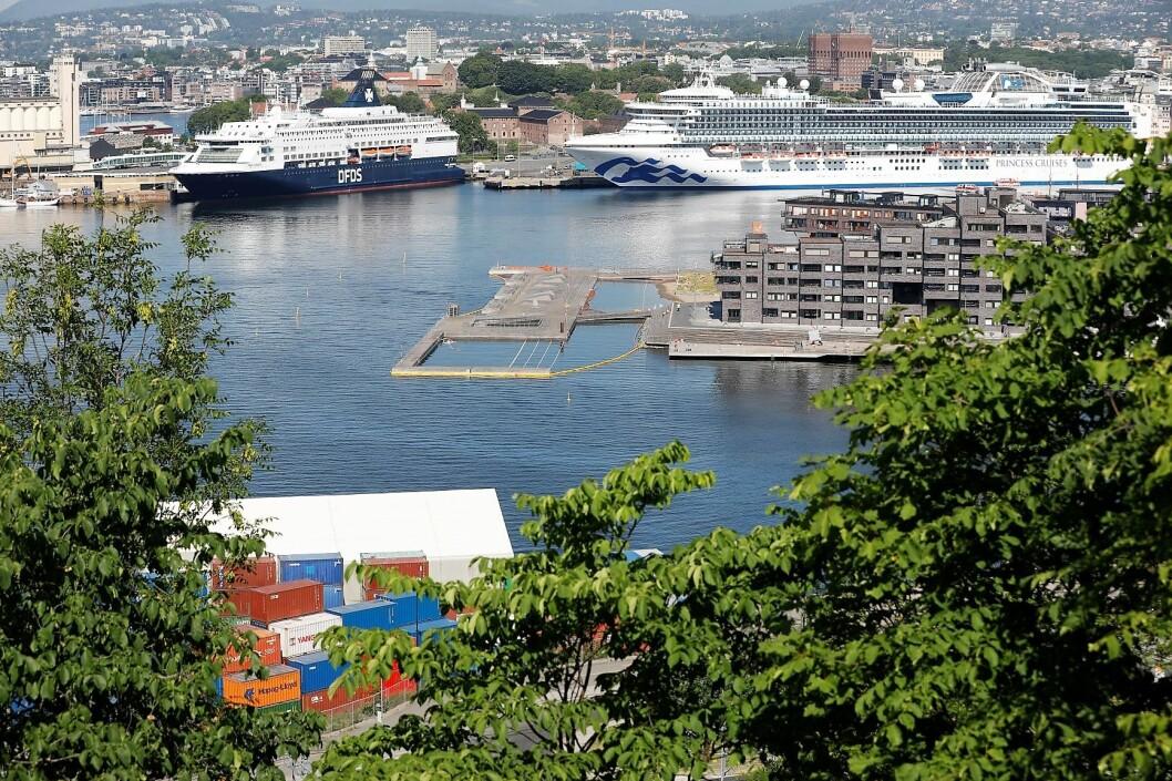 Cruiseskiptrafikken til Oslo øker kraftig i inneværende år. Foto: Jon Eeg / NTB scanpix