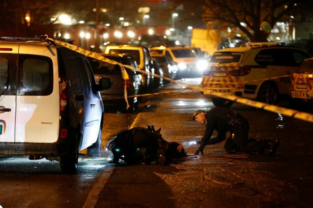 Politiet har fått melding om at det har blitt avfyrt skudd utendørs på Bogerud i Oslo Foto: Cornelius Poppe / NTB scanpix