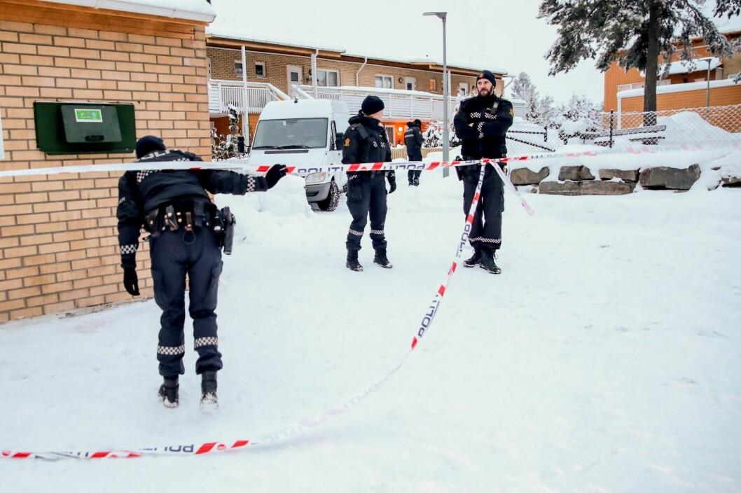 En kvinne er funnet død i en leilighet på Bjørndal i Oslo. Politiet anser dødsfallet som mistenkelig. Foto: Håkon Mosvold Larsen / NTB scanpix