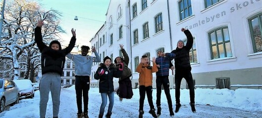 Ungene på Gamlebyen skole drømmer om svømmebasseng og fotballbinge i ny skolegård