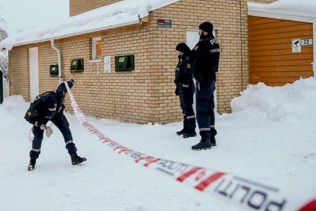 Torsdag ble en kvinne funnet død i en leilighet på Bjørndal i Oslo. Politiet anså tidlig dødsfallet som mistenkelig, og har nå siktet en nabo av kvinnen. Foto: Håkon Mosvold Larsen / NTB scanpix