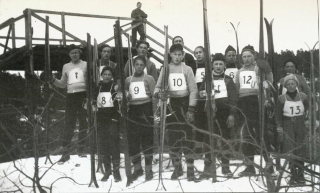 Hopprenn i Hellerudbakken cirka 1947. Foto: Østensjø historielag