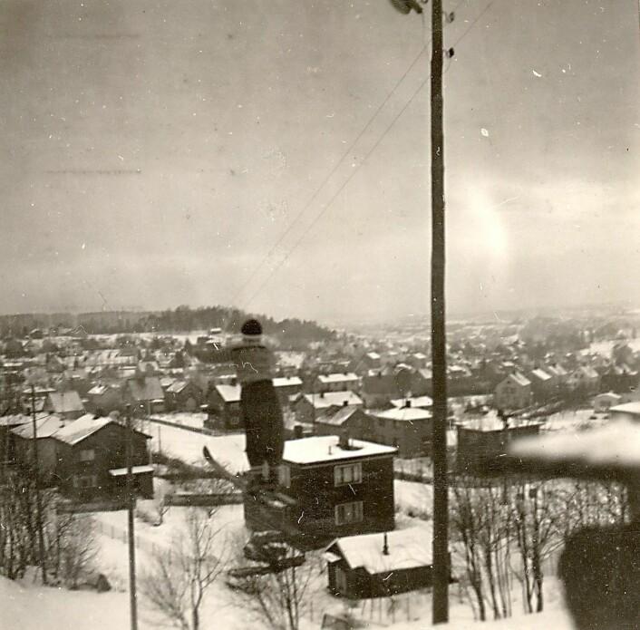 Ut fra bebyggelsen å dømme, er Jan Otto Linden i Godliabakken. Foto: Østensjø historielag