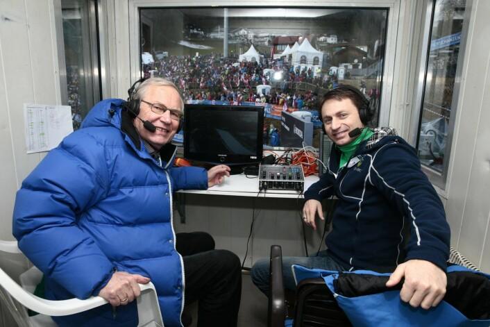 Espen Bredesen fikk mange år som ekspertkommentator sammen med NRKs Arne Scheie da hoppskiene ble lagt på hylla. Foto: Stian Lysberg Solum / NTB scanpix