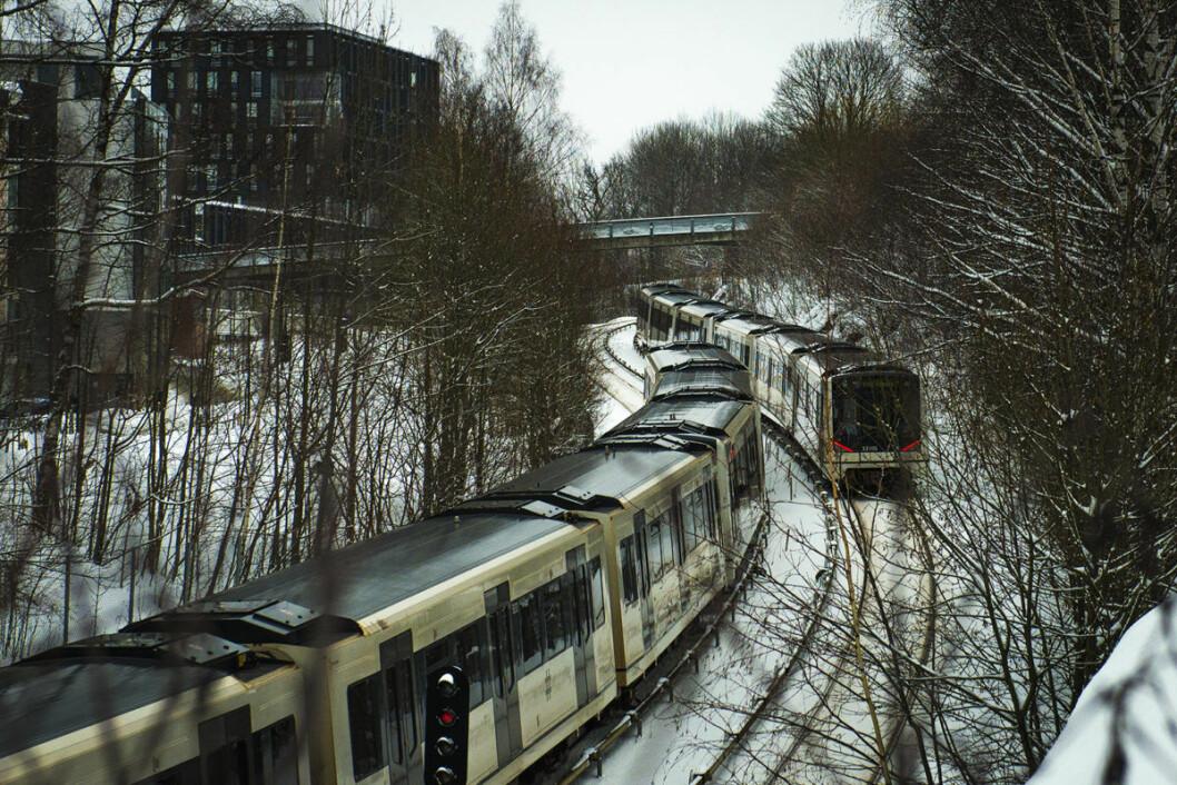 SV ønsker ikke noen forsinkelse av T-banen, sier to av SVs topptillitsvalgte i Oslo. Foto: Morten Lauveng Jørgensen