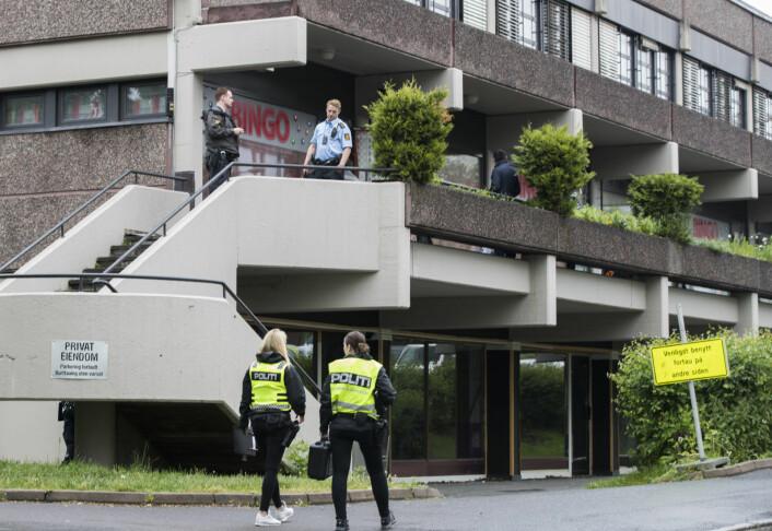Politiet ser voldsepisoden på Tøyen mandag 4. februar i år i sammenheng med rettssaken etter et macheteangrep på Ensjø sommeren 2017. Foto: Berit Roald / NTB scanpix