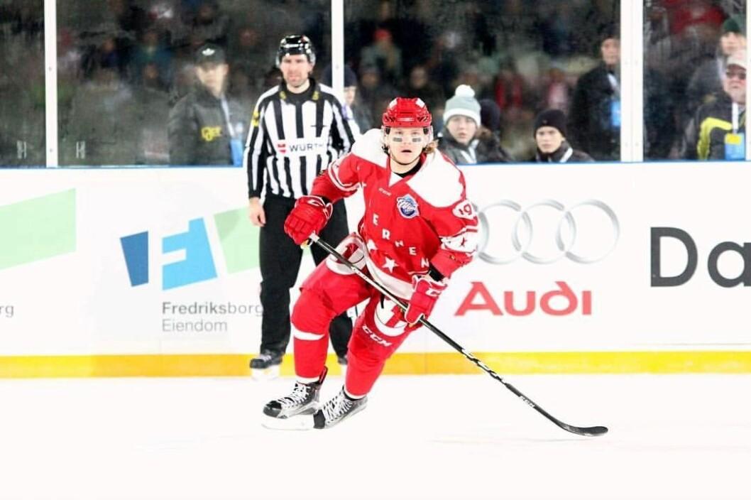 Andreas Heier skal jobbe fremover og blir forhåpentlig en farlig spiller for Storhamar og Oilers å møte i sluttspillet. Foto: Sofie Alexandra Kitterød