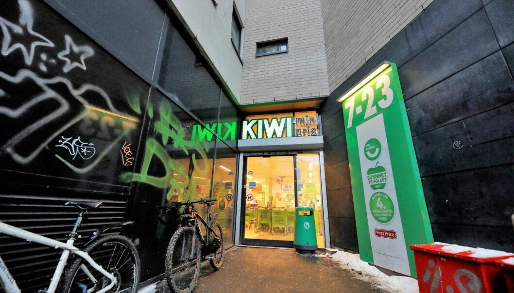 Kiwi Fredensborg ligger i Møllergata og har god plass til kaldt øl - med alkohol.