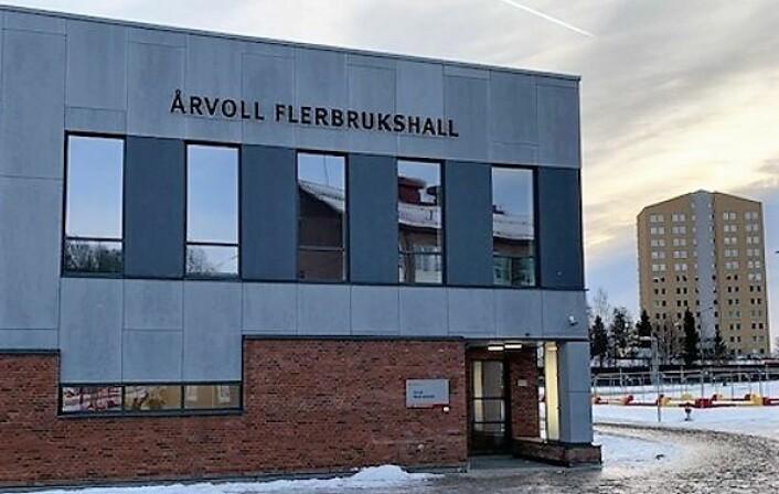 Slik ser Årvoll flerbrukshall ut utenfra. Foto: Utdanningsetaten
