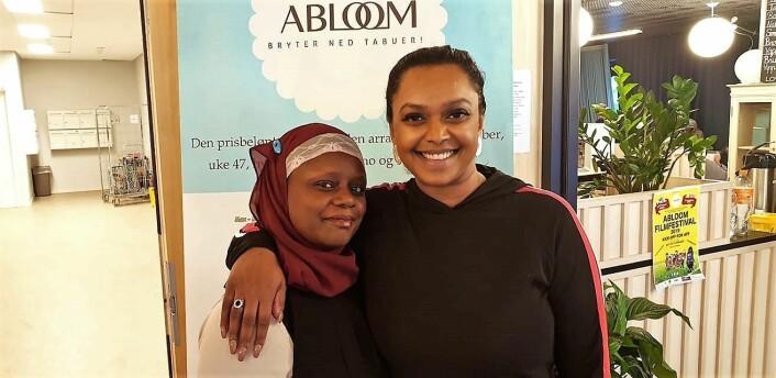 Abloom-leder Faridah S. Nabaggala fikk besøk av Oslos varaordfører, Kamzy Gunaratnam, under en workshop nylig. Foto: Bjørn Lecomte