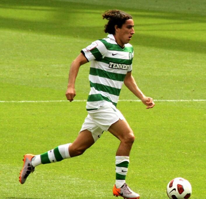 Meksikanske Efraín Juárez i Celtic-drakt. Forsvarsspilleren spilte i den skotske klubben fra 2010 til 2012. Foto: Wikimedia Commons / Ronnie Macdonald