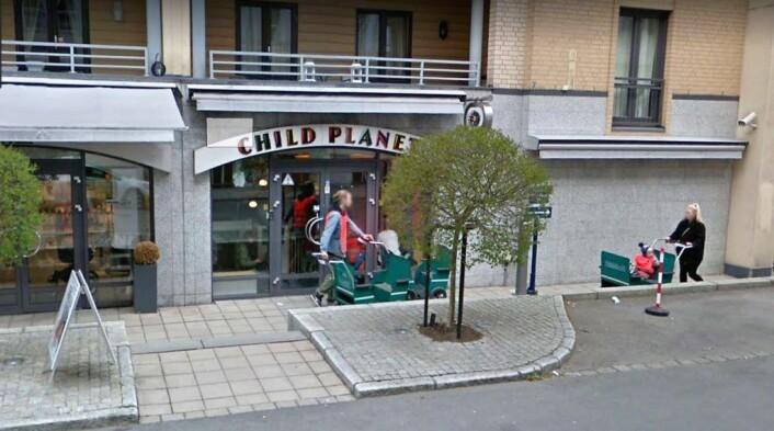 Selskapet Child Planet er eier av Månestråle barnehage i bydel Frogner. Med 150 barn er barnehagen en av Oslos største. Foto: Google maps