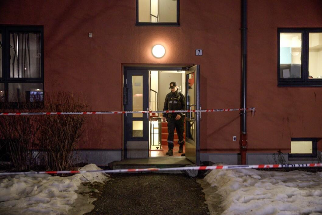 Mannen ble funnet i en trappeoppgang på Torshov i Oslo tirsdag kveld. Foto: Vidar Ruud / NTB scanpix