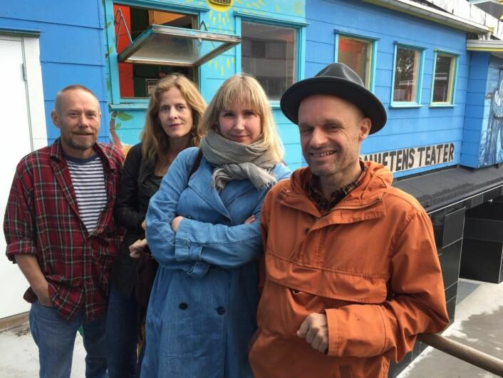 Personer bak utviklingen av Hausmania og Vega Scene (fra v.): Gunnar Gram Franck, Unnur Sande, Hege Aga Edelsteen og Harald Nissen (MDG). Foto: Vegard Velle