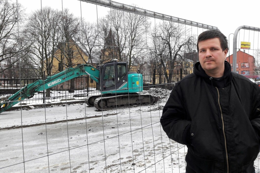 � Vi i Gamlebyen er lei av byggestøy, og er lei av det ikke tas hensyn til bomiljøet vårt, sier Andreas Drevland i Gamlebyen beboerforening. Foto: Anders Høilund