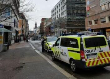 Politiet jager bort brukere i fra Brugata flere ganger daglig. Foto: André Kjernsli