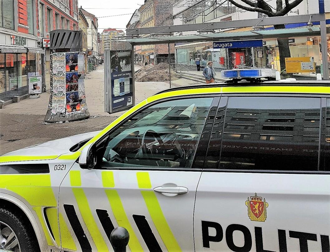 Den skadde mannen i 30-årene er kjørt til Ullevål sykehus. Foto: André Kjernsli