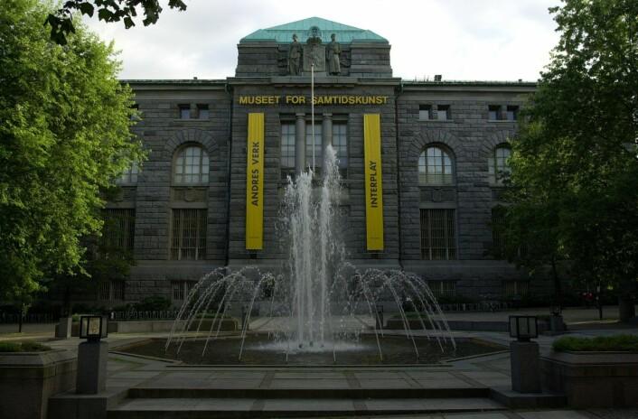 Etter 27 år i lokalene på Bankplassen ble Museet for samtidskunst flyttet midlertidig til Tullinløkka i 2017. Neste år skal samtidsmuseet permanent flyttes til det nye bygget på Vestbanetomta. Foto: Knut Fjeldstad / SCANPIX