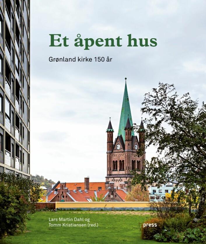 Forsiden til boka «Et åpent hus – Grønland kirke 150 år». Press forlag.