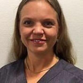 Lege Mari Skylstad Kvernebo frykter selv å bli smittet. Foto: Aleris Strømmen
