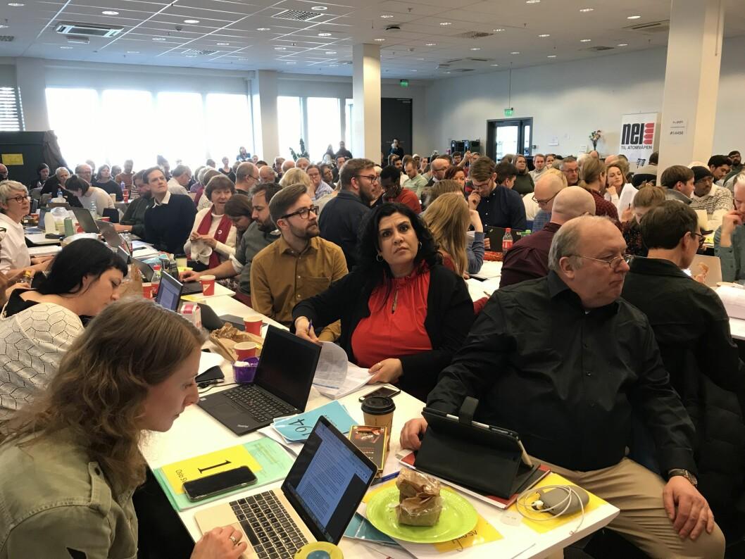 Oslo SVs årsmøte mener høstens kommunevalg handler om å utjevne forskjellene i byen, ikke minst for barn. Foto: Jens Aas-Hansen