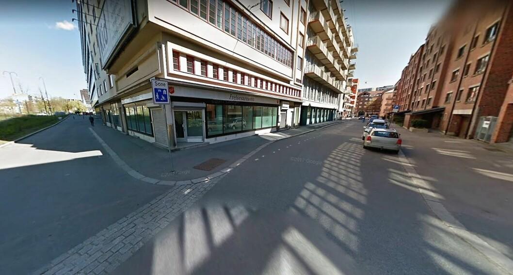 Det var i dette krysset, Lakkegata/Breigata, at den gravide kvinnen ble trakassert. Foto: Google Maps