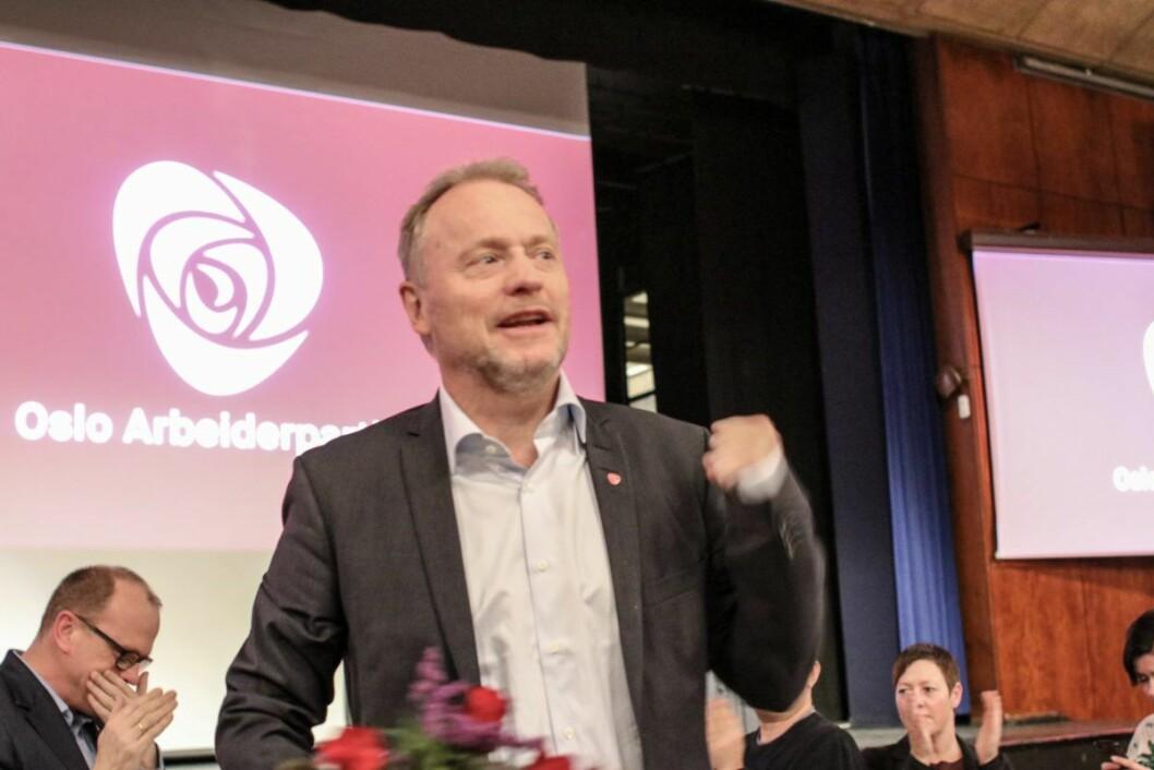 Her blir Raymond Johansen valgt på Oslo APs årsmøte. Foto: Runar Kjellstad Nygård