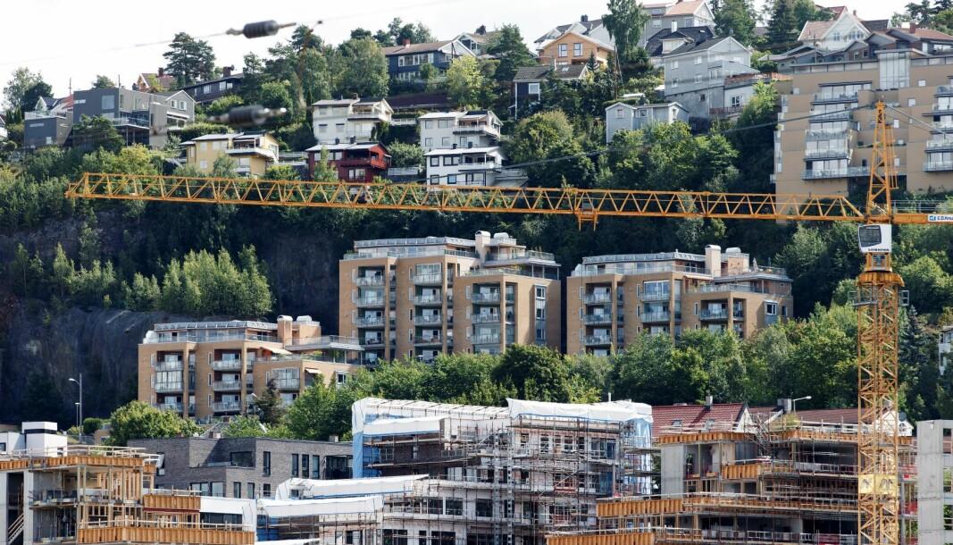 Stadig nye områder i bydel Gamle Oslo er i ferd med å bli tettet igjen av boliger, Her i Kværnerbyen.