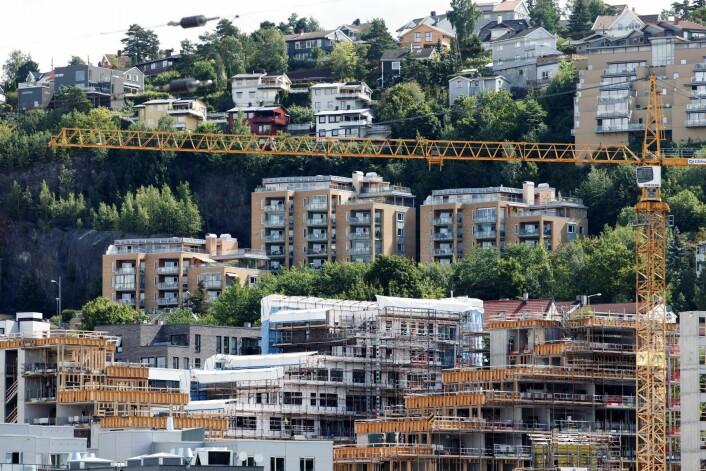 Nye og gammle boliger i Kværnerbyen i Oslo. Foto: Gorm Kallestad / NTB scanpix